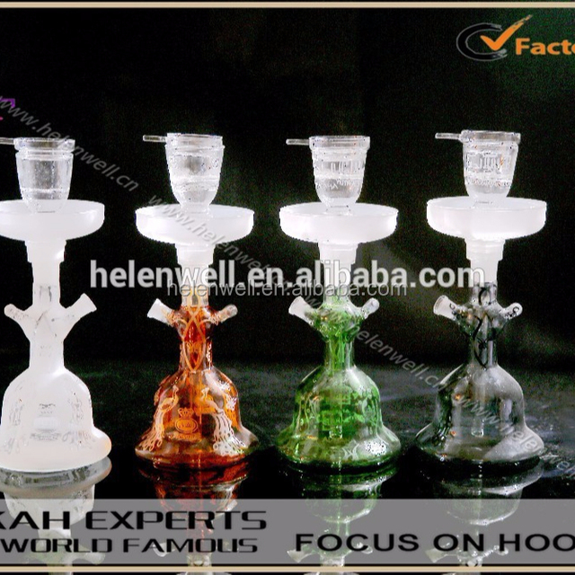 2018 hot selling colored al fakher glass hookahs shisha with leather box