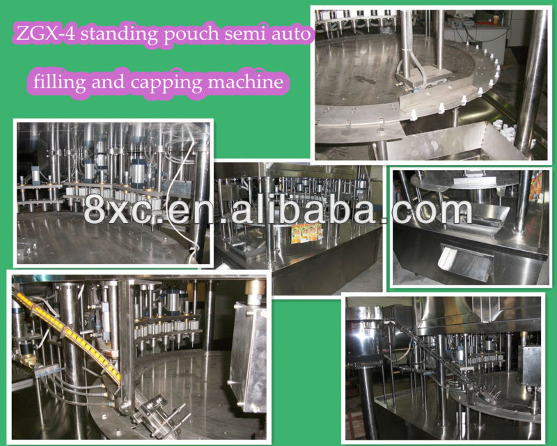 ZGX spout pouch filling capping machine