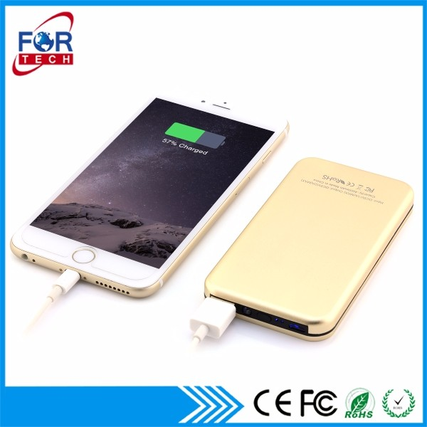 Newest Egifts Charging Station with Customized LOGO in Engrave, Metal Power Bank 4000mah with USB Function In High Quality