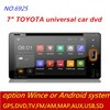 factory wholesale good quality 1 din android car dvd FM/GPS/DVD/Bluetooth/USB/AUX/WIFI