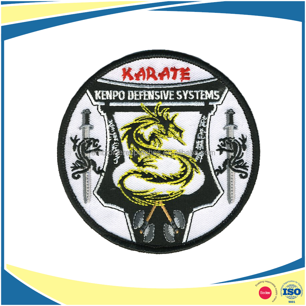 Embroidery Technics Custom Karate Patch for martial art uniform