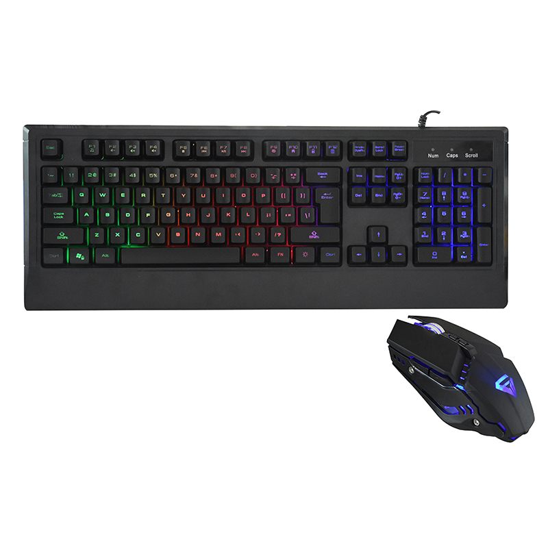 2018 High Quality Best Wired Led Multimedia Backlit Gaming Keyboard And Mouse Combo