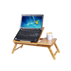 Bambou pliant table d'ordinateur portable portable en bois ordinateur portable réglable table