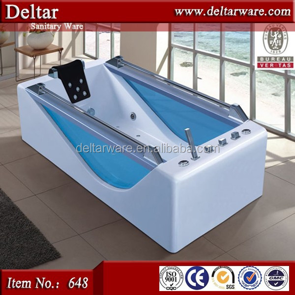 factory clear bathtub, mould cast iron engineering glass bathtub, new model corner tempered glass bathtub