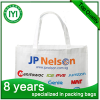 customized pp nonwoven popypropylene bag/ grocery green non woven shopping tote bag/Long Handled non-woven Bag Reusable PP