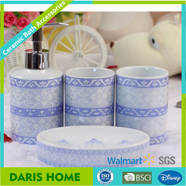 Suppliers Purple Landscape Bathroom Accessory Set China