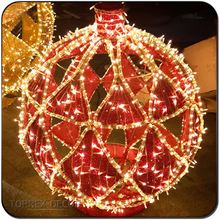 Demountable Large outdoor christmas decoration 3d led ball