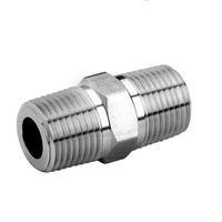 1/4inch Male x 1/4inch Male Hex Nipple Stainless Steel 304 Threaded Pipe Fitting BSP High Quality