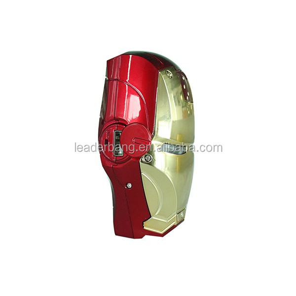 New fashion 6000mAh iron man Power Bank for cell phone