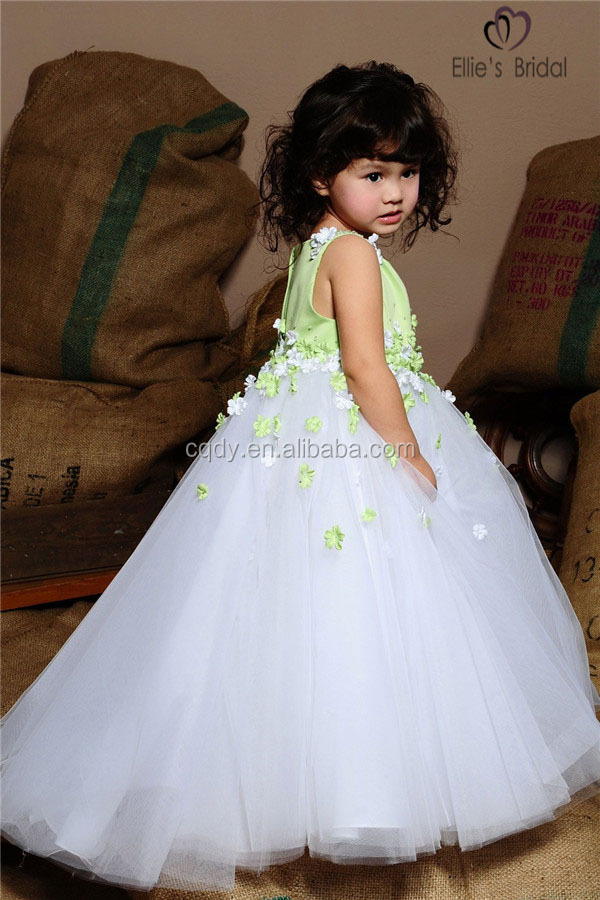 2015 Light Cyan Baby Girls Puffy Dresses For Birthday