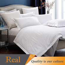 Satin stripe hotel duvet cover available for multiple colors