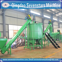 LDPE film agglomerator plastic grain making machine