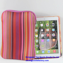 2015 hot selling good quality for iPad waterproof bag with printing, neoprene shockproof tablet case