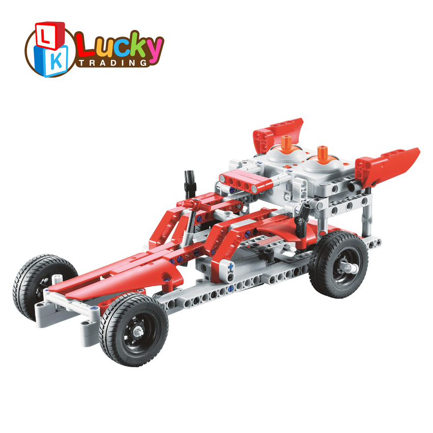 10 in 1 diy building blocks electric rc car kit with rechargeable battery