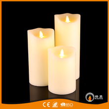 Ivory moving flame LED candles wedding church cafe bar decorative candles
