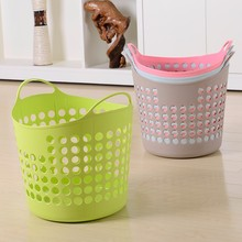 High Quality Soft Material PE Supermarket Plastic Foldable Laundry Basket