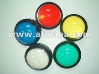 Arcade Video Game 100mm Round Big Convex Push Long Button with Lamp led illuminated