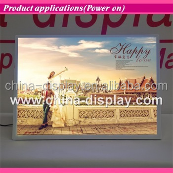 Magnetic acrylic frame desktop led lighted led light shadow box