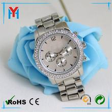 Color Storm Men Lady Alloy Date Day Alloy Band Crystal Watch Gift