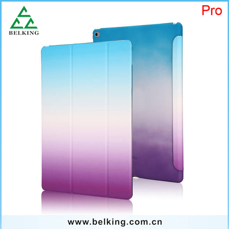 Rainbow Smart Back Cover For iPad Pro Stand Holder Case for iPad Pro 12.9""