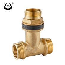 Hot sale rotating connection forged extension ms screw tee joint pipe and tube brass pipe fitting