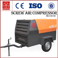 Mini diesel portable screw air compressor