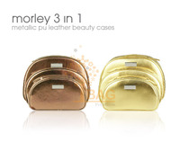 Morley 3 In 1 Metallic PU Leather Beauty Case