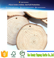 Unfinished Predrilled Natural Wood Slices with Tree Bark Blank Tree Log Discs Cutout Wood Circles DIY Craft 20 Pieces of 2-2.5""