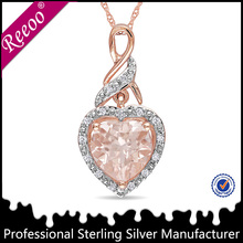 925 Sterling Silver heart shaped Vintage Necklace