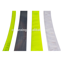 Various colors sew on pvc prismatic reflective tape for clothes