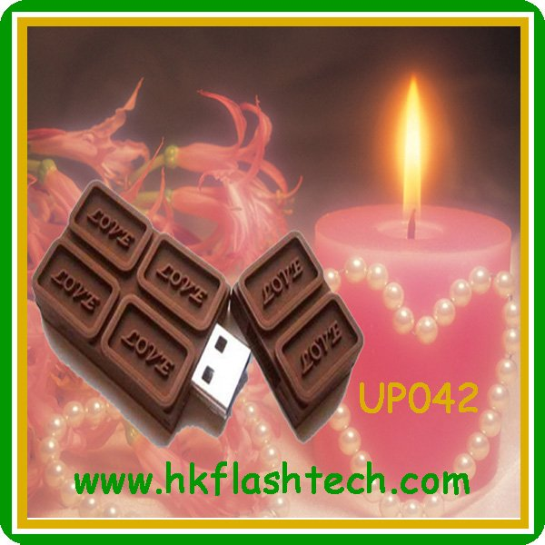 Funny chocolate usb flash stick verbatim 4gb/8gb for Valentine's Day