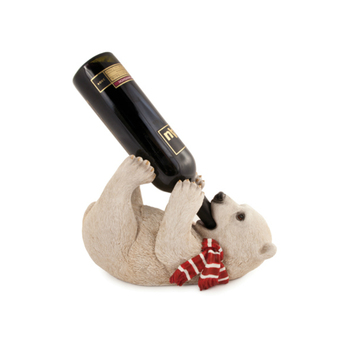 Home decoration wine rack, brown bear wine bottle holder