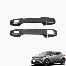 Japanese car accessories Top quality chrome car paint C-HR 2017 Front Car Door Handle Cover decoration accessories