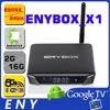ENYBOX Amlogic S905X quad core android tv box ENYBOX_X1 smart tv remote control