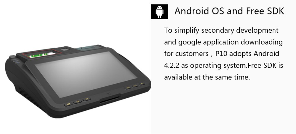 10.1 Inch Android POS Terminal with Printer, NFC Reader
