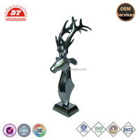 Electroplating Figurine statue small plastic deer head