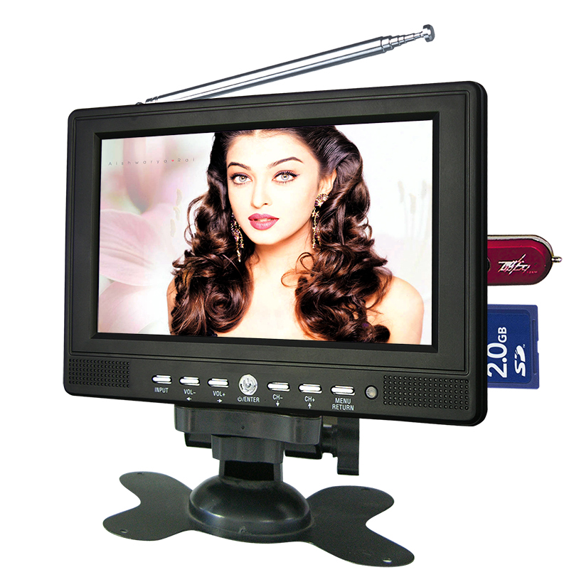 Made in china small 800*480 7 inch car lcd tv 12v/24v