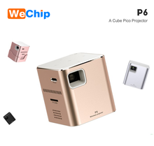 2018 Smallest Pico DLP MINI Projector P6 800 lumens WIFI Mobile Phone Connection Mirror Play Full HD Home Projector
