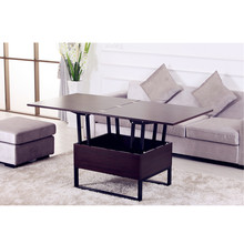 Modern multifunction height adjust lift top wood coffee table