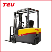 China TEU three wheel electric forklift lift truck top selling