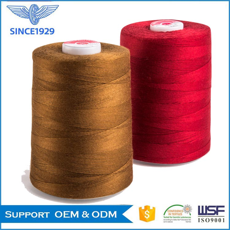 Cotton-wrapped polyester corespun sewing thread 28S/2 tex 40