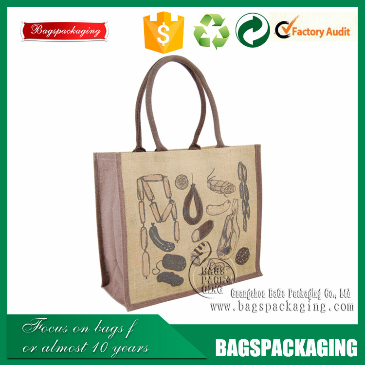 stylish printable shopping tote wholesale jute bags india