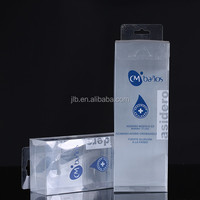 Plastic blue color packaging box for cosmetic outer box packing