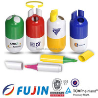 Pill shaped 3 in 1 highlighter pen/stationery set/ promotion gifts