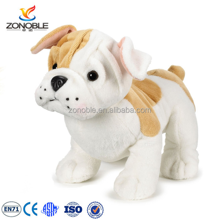 2016 stuffed bulldog puppies cute working puppy dog promotional toys plush french bulldog for sale