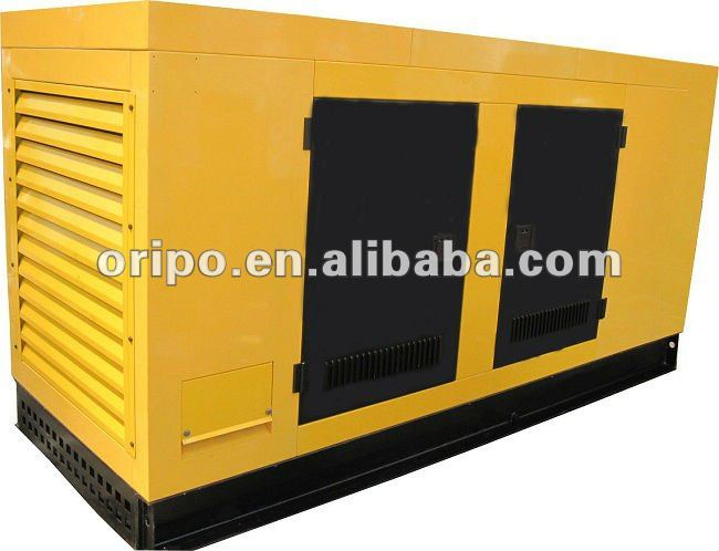 Cummins 6BT5.9-G2 100kva/80kw canopy diesel generator set with efficient muffler/silencer