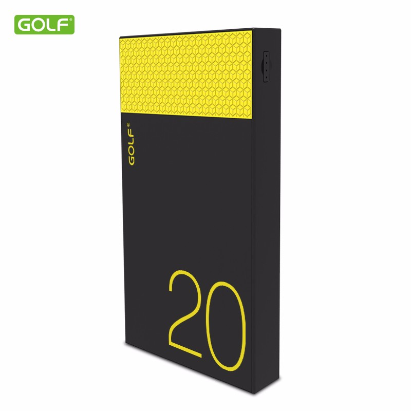 High quality cheap price smart mobile power bank 20000mah GOLF new arrival products