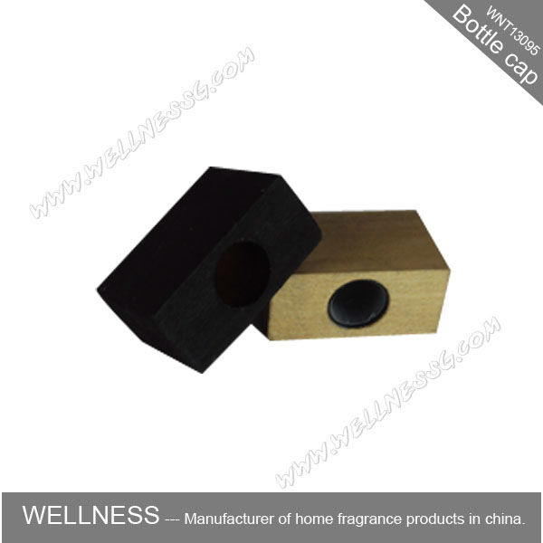 wholesale different color square wooden perfume bottle cap