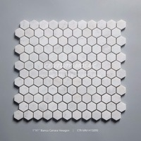 1' 'hexagon shaped white carrara white marble tile price