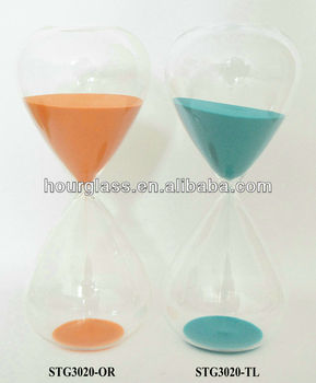 Hourglass 60 Minutes Orange and Blue Sand